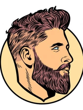 men hipster face profile. Pop art retro vector illustration vintage kitsch